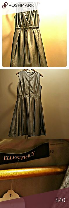 Ellen Tracy Silver Cocktail Dress... Ellen Tracy Silver Cocktail Dress... Ellen Tracy Dresses