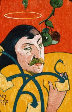 Titre de l'image : Paul Gauguin - auto-portrait avec le halo