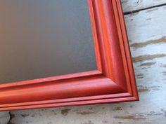 "MAGNETIC CHALKBOARD For Sale 53""x28"" XL Large Tuscan Red Black board Framed Chalkboard Framed  Kitchen Organizer Decor Framed Chalk board"