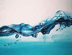 #묘사 #물 #투명체 #파도