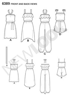 New Look 6389 Girls' Easy Jumpsuit, Romper and DressesYou can find Dress drawing and more on our website.New Look 6389 Girls' Easy Jumpsuit, Romper and Dresses Dress Drawing Easy, Dress Design Drawing, Dress Design Sketches, Fashion Design Sketchbook, Fashion Illustration Sketches, Fashion Design Drawings, Drawing Drawing, Art Sketchbook, Fashion Sketches
