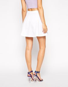 Enlarge ASOS Skater Skirt in Texture