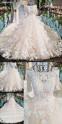vestido de noiva casamento see through back short sleeves lace ball gown  beading bow lace up wedding dresses real photos 92b3b50bde14