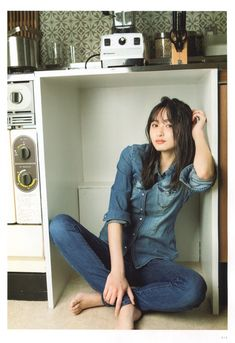 Japanese Beauty, Japanese Fashion, Asian Beauty, Denim Fashion, Fashion Outfits, Asian Singles, Japan Girl, Girl Bands, Asia Girl