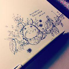 quick #totoro doodle