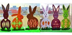 Make Easter decorations for the window yourself - Andrea Osterdeko fürs Fenster ganz einfach selber basteln Make Easter decorations for the window yourself Bedroom Murals, Easter Traditions, Easter Printables, Original Gifts, Christmas Gifts, Christmas Ornaments, Easter Baskets, Diy Crafts For Kids, Easter Crafts