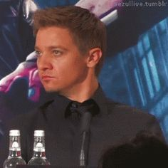 """waitingforfuckingrennsday: """" cuddlesbentomrenner: """" When you think about it, Renner is just as Hawkward as the rest of us, which makes him more personable. Something tells me if you did something..."""