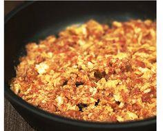 Patatas fritas con revoltillo de tomate lo primero que aprendí a cocinar