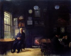 John French Sloan 1912 McSorley's Back Room American Realism, American Artists, Greenwich Village, New Hampshire, Spring Rain, William Glackens, Ashcan School, Most Famous Artists, Art Database