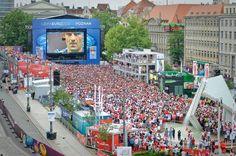 Poznan Poland, strefa kibica UEFA EURO 2012