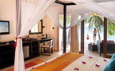 Beach Villa - Interior at 5 star hotel: Vilamendhoo Island Resort & Spa. This hotel's address is: South Ari Atoll South Ari Atoll Maldives Islands and have 184 rooms