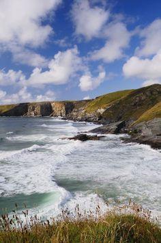 Trebarwith Strand Beach - North Cornwall, Cornwall, England