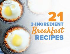 Looking for a quick and tasty breakfast recipe you can whip up in no time? These 3-ingredient breakfast recipes will get you out the door in no time. Paleo Recipes, Baby Food Recipes, Cooking Recipes, Paleo Food, Delicious Breakfast Recipes, Healthy Breakfast Recipes, Clean Eating Recipes, Breakfast Ideas, Title Card
