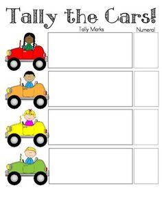 Tally mark the cars! My students love this activity! 1st Grade Math, Grade 1, First Grade, Math Tutor, Maths, Tally Marks, Math Work, Math About Me, Math Numbers