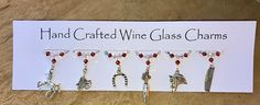 Horse Wine Glass Charms - Horse Gifts - Christmas Gifts - Birthday Gifts - Stocking Fillers -