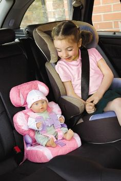 Doll Car Seat and Booster with Seatbelt for Dolls and Stuffed Animals - Bring Your Favorite Friend for a Ride! Real Baby Dolls, Baby Doll Toys, Baby Alive Dolls, Toddler Toys, Kids Toys, Little Girl Toys, Toys For Girls, Baby Doll Furniture, Baby Doll Nursery