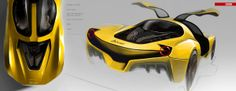 Ferrari Dino by Hojeong Kim, via Behance