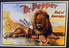 Vintage Dr Pepper  King of Beverages  Tin by KoopsKountryKalico, $14.99