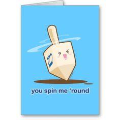 You Spin Me Round Card by Kimchi Kawaii #hanukkah #cute #kawaii