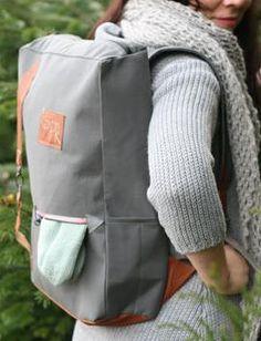 Ein Rucksack für Groß und Klein - Schnittmuster und Nähanleitung via Makerist.de