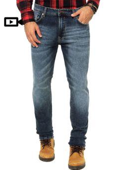 Calça Jeans Redley Azul R$ 259,00    8x de R$ 32,38  sem juros no cartão