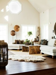 dark wood floor and white everything.