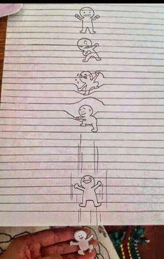 Fun inventors: optical illusion drawing on lined paper! by lynn Drawings On Lined Paper, Cool Drawings, Illusion Drawings, Illusion Art, Optical Illusions, Amazing Art, Illustration, Cool Art, Nice Art