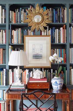 An Architect's Storybook Cottage in Atlanta – Blue and White Home Tudor Cottage, Storybook Cottage, Brandon Ingram, Home Design, Interior Design, Interior Doors, Moldings And Trim, Large Homes, White Houses