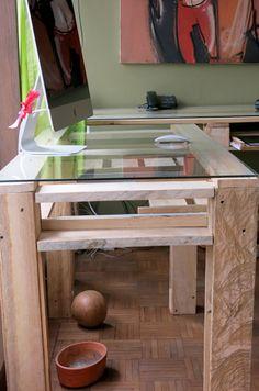 mesa escritorio en madera de palet