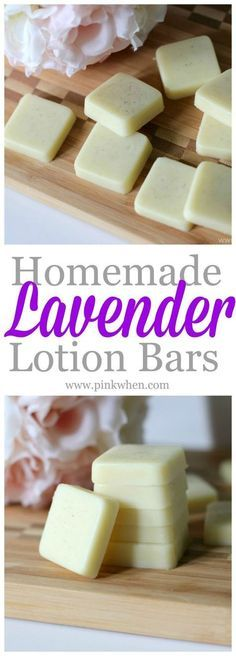 Simple and easy to make Homemade Lavender Lotion bars. Perfect for carrying in your car or purse for quick application.