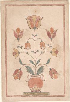 Pennsylvania German Fraktur and Manuscripts - Digital Collections - Free Library Folk Art Flowers, Flower Art, Illustration Art Drawing, Art Drawings, Mughal Paintings, Primitive Folk Art, Celtic Art, Naive Art, Traditional Art