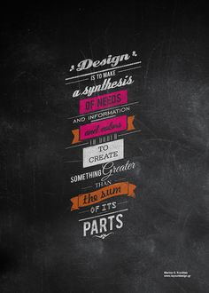 Design is... by MARIOS KORDILAS, via Behance