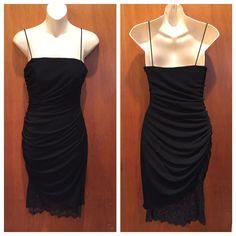 Js Collection Black Lace Sheath Lbd Cocktail Dress