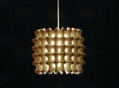 Egg Crate Lamp by Inhabitat, via Flickr