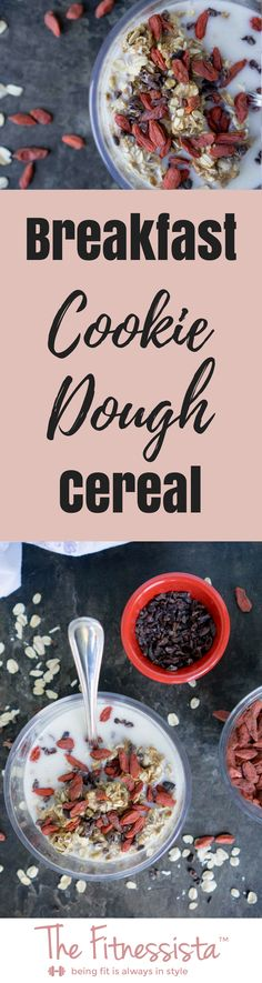This healthy breakfast is almost too good to be true! Breakfast cookie dough cereal is packed with protein, healthy fats and nutrients to get your day started right. Slow Cooker Breakfast, Make Ahead Breakfast, Healthy Breakfast Recipes, Healthy Snacks, Healthy Fats, Brunch Recipes, Healthy Recipes, Coconut Recipes, Real Food Recipes