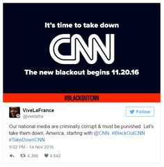 "11/20/16 - Boycott of CNN Announced: ""Starve the Beast"" - Natural News announces economic boycott of CNN corporate sponsors, including GEICO, WellsFargo, Sprint, Dodge and ETrade."