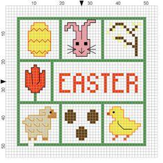Easter minis - free cross stitch patterns