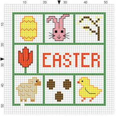 Easter minis - free cross stitch patterns