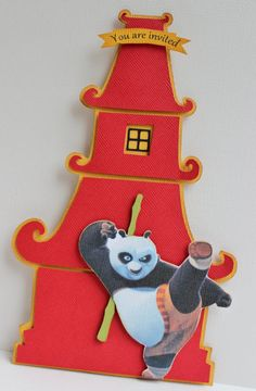 Handmade Kung Fu Panda Invitations  For by PaperletteDesigns, $37.00
