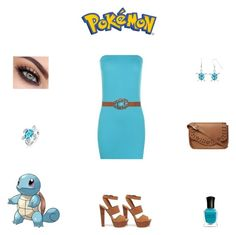 """""""Pokémon: Squirtle Outfit"""" by billsacred ❤ liked on Polyvore"""