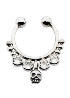 Browse Our Body Vibe Collection at Attitude Clothing. Faux Septum Ring, Alternative Fashion, Piercings, Jewelry Accessories, Chokers, Skull, Gems, Crow, Bracelets
