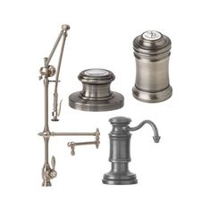 Waterstone Towson Kitchen Faucet Single Handle with Articulated Spout, Pull Out Spray, Soap/Lotion Dispenser, Tuscan Brass ** Continue to the product at the image link. (This is an affiliate link) Chrome, Kitchen Sink, Lotion Dispenser, Faucet Accessories, Rustic Modern Kitchen, Polished Nickel, Farmhouse Faucet, Modern Kitchen Faucet, Faucet