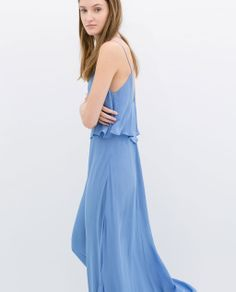 Image 3 of LONG DRESS WITH LOW BACK from Zara