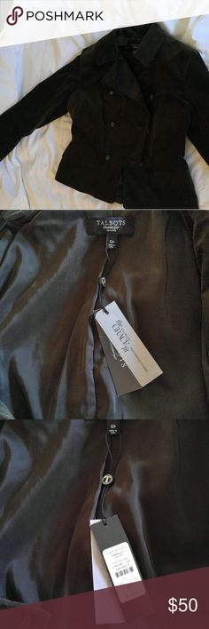 Stylish jacket Velvet military style jacket. Can be casual or dressy Talbots Jackets & Coats Blazers
