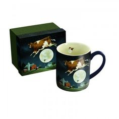 Lang Cow Jumped over the Moon Mug by Lowell Herrero 14Ounce Multicolor >>> Details can be found by clicking on the image.