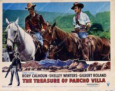Rory Calhoun Gilbert Roland film The Treasure of Pancho Villa 35m-3639