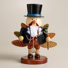 Add a fun, festive touch to your Thanksgiving Table with Cost Plus World Market's Wooden Turkey Nutcracker >> #Worldmarket Thanksgiving #Decor