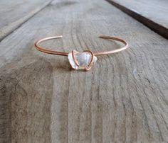 Rings Inspiration : copper and quartz bangle