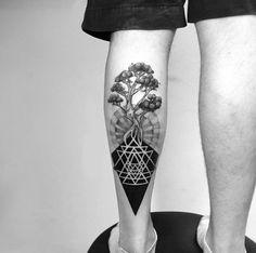 Spiritual roots tattoo by Daniel Matsumoto