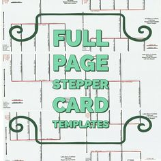 Full Page Stepper Card Templates. Easel Cards, 3d Cards, Letter Templates, Card Templates, Stepper Cards, Card Making Tutorials, Letter Size, Card Stock, Bullet Journal